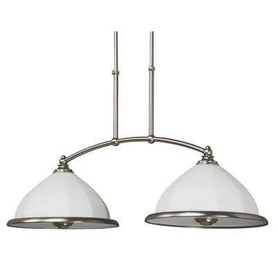Facets Collection 2-Light Satin Nickel Pendant - DISCONTINUED