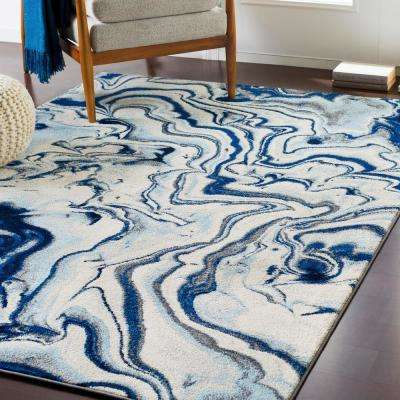 Kathy Navy 5 ft. 3 in. x 7 ft. 3 in. Abstract Area Rug