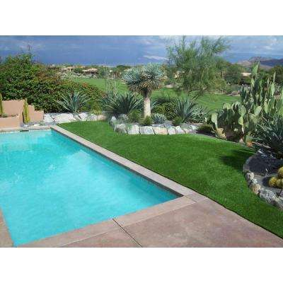 Deluxe Artificial Grass Synthetic Lawn Turf, Sold by 15 ft. W x Custom Length