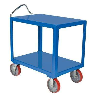 24 in. x 36 in. 3,600 lb. Heavy Duty Ergo Handle Cart with Casters