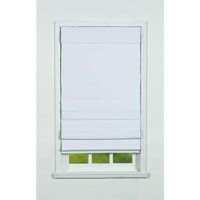 White Insulating Cordless Cotton Roman Shade - 47 in. W x 72 in. L
