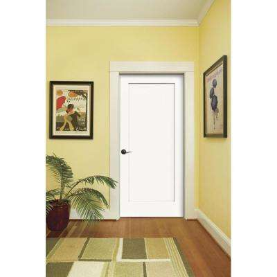 30 in. x 80 in. Madison Primed Right-Hand Smooth Molded Composite MDF Single Prehung Interior Door