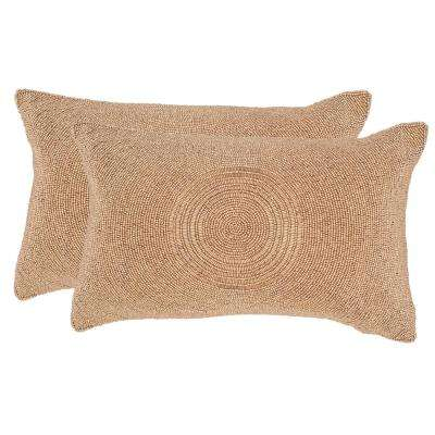 Cleopatra Embellished Hand-Beaded Pillow (2-Pack)