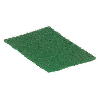 9 in. x 6 in. Green Scour Pads (Case of 6)