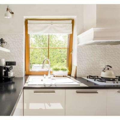 Dymo Chex White Glossy 12 in. x 36 in. Glazed Ceramic Wall Tile (18 sq. ft./case)