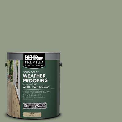 1 gal. #SC-143 Harbor Gray Solid Color Weatherproofing All-In-One Wood Stain and Sealer