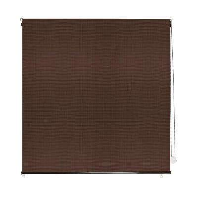 Sunset Coconut Brown Polypropylene Rollup Sun Shade - 48 in. W x 72 in. L