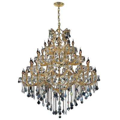 Maria Theresa 44-Light Gold Chandelier with Clear Crystal