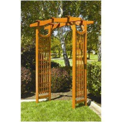 American Bungalow 83 in. x 59 in. Outside Wooden Garden Arbor