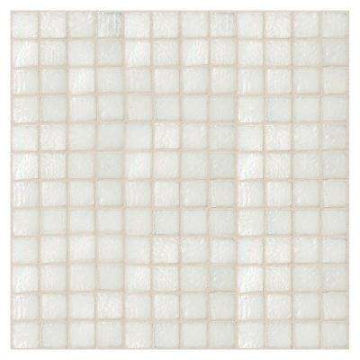 Egyptian Glass Cotton 12 in. x 12 in. x 6 mm Glass Face-Mounted Mosaic Wall Tile