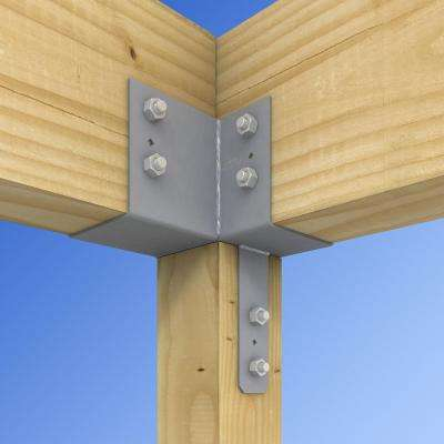 ECCLL L-Shape End Column Cap for 6x Post, 6x Beams, Skewed Left