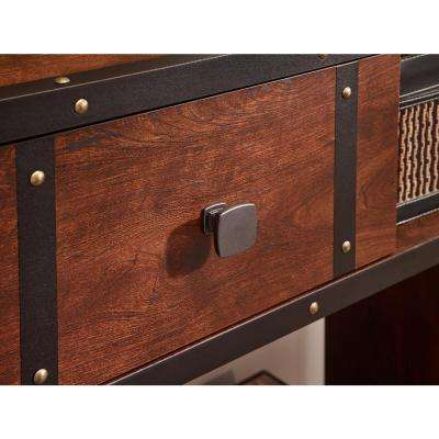Webber 1-3/8 in. (35mm) Soft Iron Square Cabinet Knob