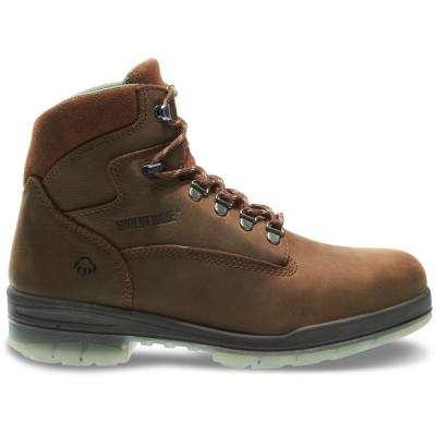 Men's I-0 Durashocks Brown Nubuck Leather Waterproof Steel Work Boot