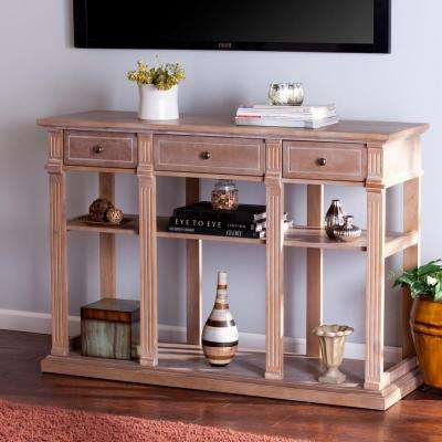 Crispin Weathered Natural Entertainment Center