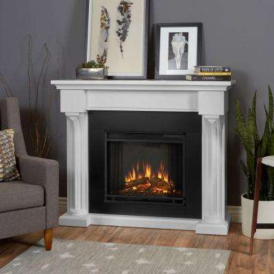 Verona 48 in. Electric Fireplace in White