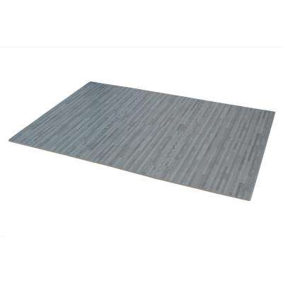 Slate Printed Wood Grain 24 in. x 24 in. x 3/8 in. Interlocking EVA Foam Flooring Mat (24 sq. ft. / pack)