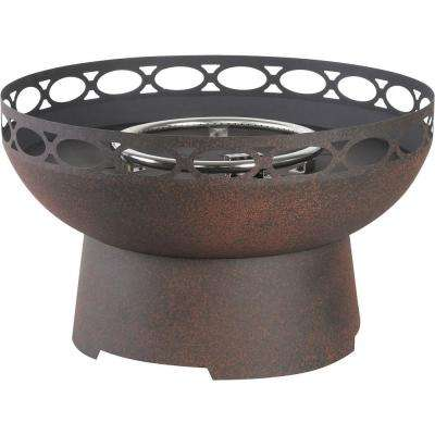 Cosentino 26 in. Round Stainless Steel Propane Fire Pit