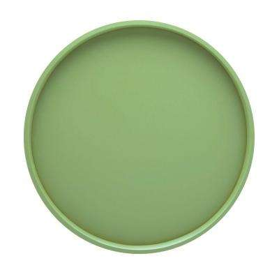 14 in. Round Serving Tray in Mist Green