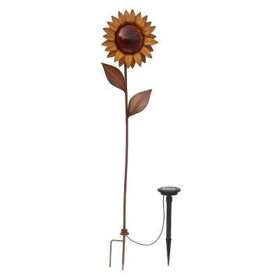 Bronze Solar LED Sunflower