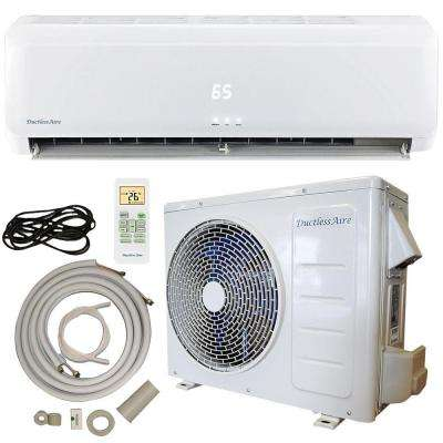 12,000 BTU 1 Ton DC Inverter Ductless Mini Split Air Conditioner and Heat Pump - 120-Volt/60Hz with 25 ft. Complete Kit