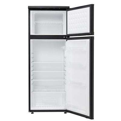 7.3 cu. ft. Freestanding Top Freezer Refrigerator in Black
