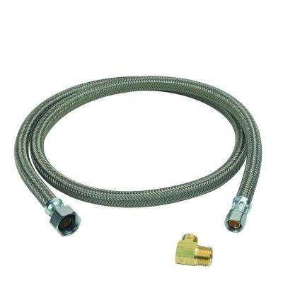1/2 in. FIP x 3/8 in. Compression x 48 in. Braided Polymer Dishwasher Connector with 3/8 in. Compression Elbow