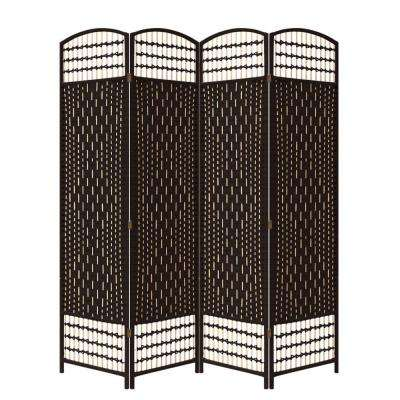 5.56 ft. Espresso 4-Panel Room Divider