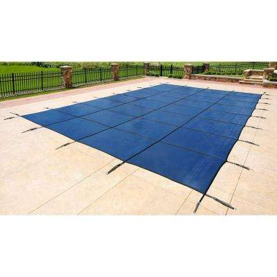 Blue Rectangular Pool Safety Cover