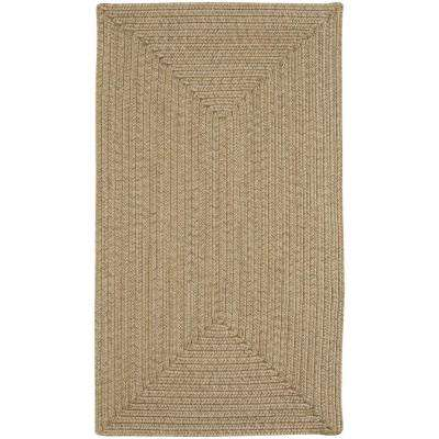 Candor Concentric Tan 7 ft. x 9 ft. Area Rug