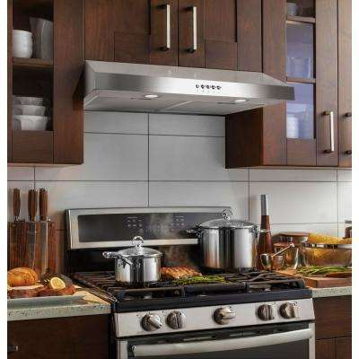 30 in. Ducted Under Cabinet Range Hood in Stainless Steel