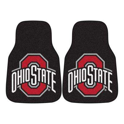 Ohio State University 18 in. x 27 in. 2-Piece Carpeted Car Mat Set