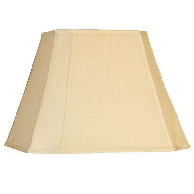 Beige Cut Corner Oval Single Replacement Lamp Shade