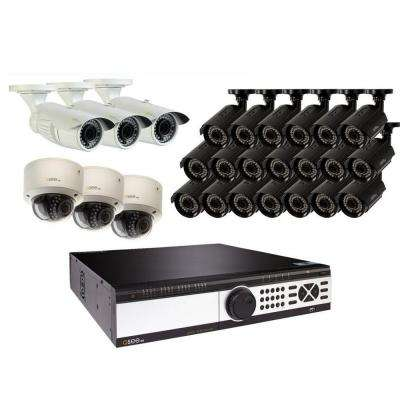 32-Channel 1080p 8TB Video Surveillance System with (20) Bullet Cameras, (3) Dome Cameras and (3) Auto-Focus Cameras