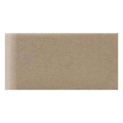 Rittenhouse Square Elemental Tan 3 in. x 6 in. Ceramic Surface Bullnose Wall Tile