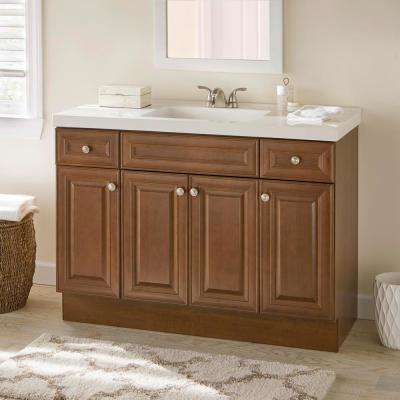 Glensford 48 in. W x 22 in. D Bathroom Vanity Cabinet in Butterscotch