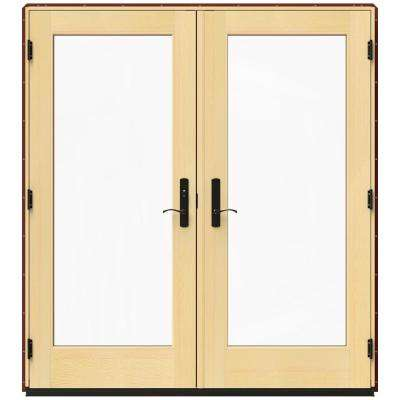 71.25 in. x 79.5 in. W-4500 Mesa Red Right-Hand Inswing French Wood Patio Door