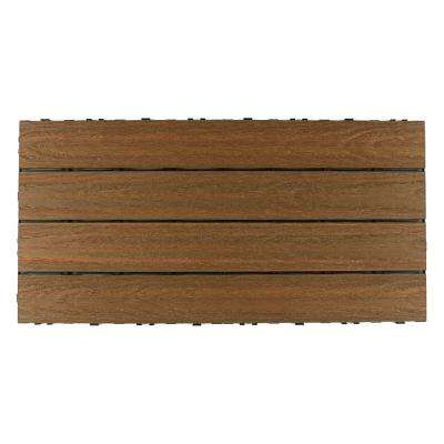 UltraShield Naturale 2 ft. x 1 ft. Quick Deck Outdoor Composite Deck Tile in Peruvian Teak (20 sq. ft. per box)