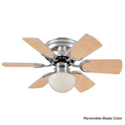 Petite 30 in. Indoor Brushed Nickel Ceiling Fan