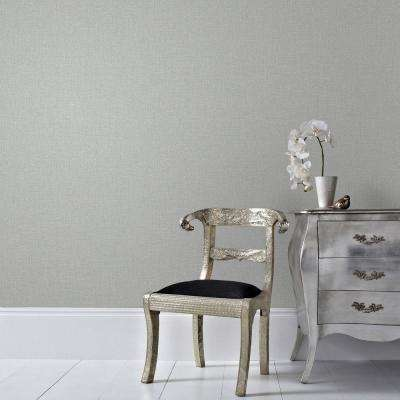 Gray and Silver Chenille Wallpaper