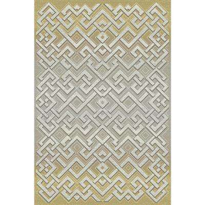 Royal Treasure Amber/Mocha 7 ft. 10 in. x 10 ft. 10 in. Indoor Area Rug