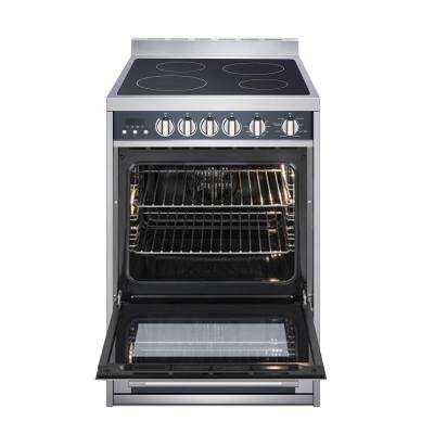 24 in. 2.2 cu. ft. Electric Range with Convection in Stainless Steel