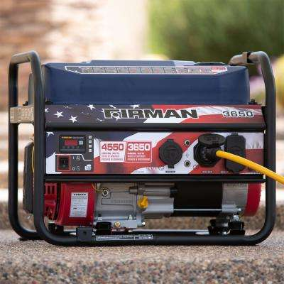 4550/3650-Watt Recoil Start Gas  Portable Generator With Stars and Stripes Print