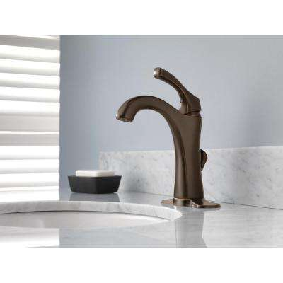Addison Single Hole Single-Handle Bathroom Faucet with Metal Drain Assembly in Venetian Bronze