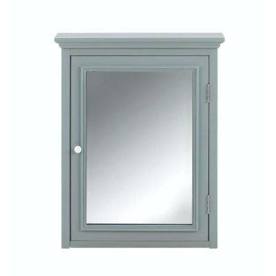 Fremont 24 in. W x 30 in. H x 6-1/2 in. D Framed Surface-Mount Bathroom Medicine in Grey