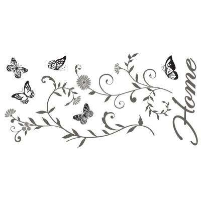 24 in. x 11.8 in. Home Wall Sticker