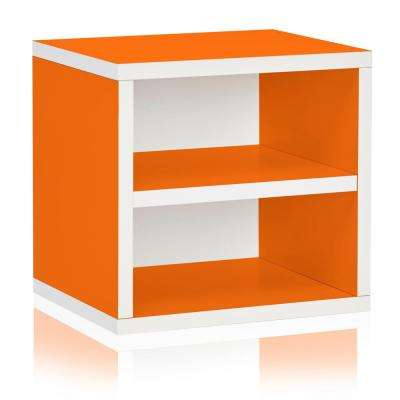 zBoard Eco 13.4 in. W x 13.4 in. H Orange Stackable 1-Cube Organizer with Shelf
