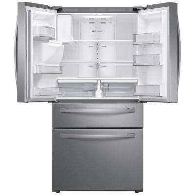 23 cu. ft. 4-Door French Door Refrigerator in Fingerprint Resistant Stainless Steel, Counter Depth