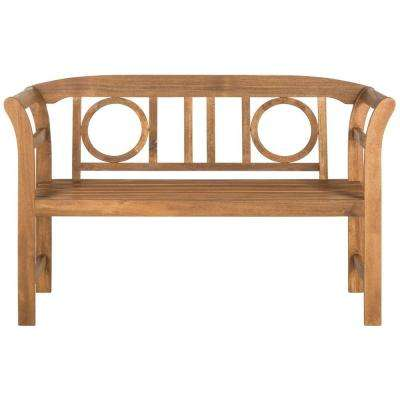 Moorpark Outdoor 2 Seat Acacia Patio Bench in Teak