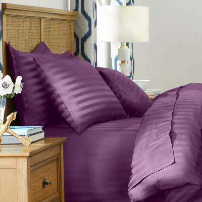 500 Thread Count Egyptian Cotton Damask Sateen Duvet Cover Set
