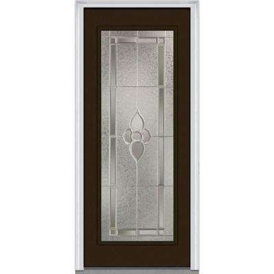 Master Nouveau Decorative Glass Full Lite Painted Majestic Steel Prehung Front Door